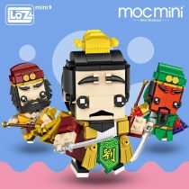 LOZ Mini Blocks General of Ancient China Guan Gong.Three Kingdoms Action Figures Toys Hobbies Kids Assembly Toy Educational 1454
