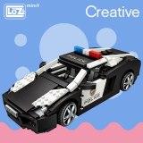LOZ Mini Blocks Technic Mini City Police Car Model Building Bricks Vehicle Racing Car Assembly Toy for Kids DIY Educational 1113