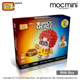 LOZ Mini Blocks Building Blocks Clown Figure Figurine Anime Toys for Children Hamburger Model Ronald Action Figures Kids 1436