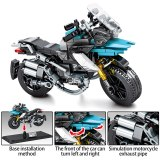 SEMBO City Creator Off-road Motorbike Model Building Blocks Technic Motorcycle DIY Assemble Bricks Educational Toys For Children