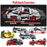 SEMBO City Pull Back Extreme Speed Super Racing Car Building Blocks Technic Supercar Funcation Model Bricks Toy for Boys