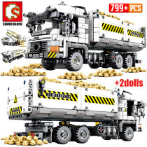 SEMBO 2020 NEW SEMBO 799pcs City Truck Building Blocks Technic Car Mechanical Earthmoving Vehicle Bricks Toys for Children