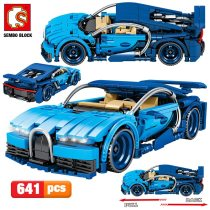 SEMBO 641pcs City Creator Pull Back Mechanical Vehicle Building Blocks Technic Racing Car MOC Model DIY Bricks Toys For Children