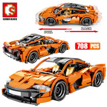SEMBO 708pcs Creator City Pull Back Vehicle Building Blocks Technic Racing Car Model Bricks Toys for Children Gifts