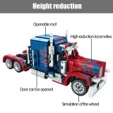 SEMBO 849pcs City Classic Pull Back Car Building Blocks Technic Peterbilt Heavy Container Truck Bricks Toys for Boys