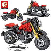 SEMBO MOC City Speed Motorbike Model Building Blocks Technic Motorcycle Creator Motor Car Bricks Educational Toy for Boys