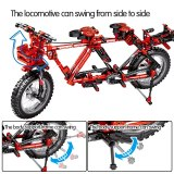 SEMBO City Creator Mechanical Bicycle Mountain Bike Building Blocks Technic Concertible Tandem Bicycles Bricks Toys For Boys
