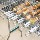 (HOT SALE) Stainless Steel BBQ Skewers With Sliding Module