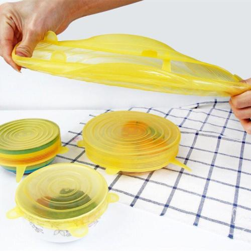 10 pcs Reusable silicon stretch lids universal lid