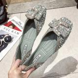 (50% off today)Crystals Pearl Butterfly-knot Women Flats
