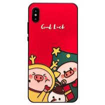 Emboss 3D Christmas Pig Phone Case
