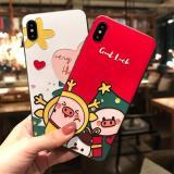 Emboss 3D Christmas Pig Phone Case