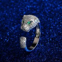 aurorabuy® Wide Ring with Diamonds