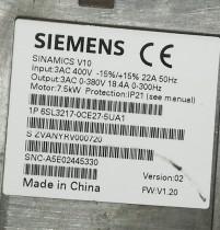 Siemens Frequency converter 6SL3217-0CE27-5UA1