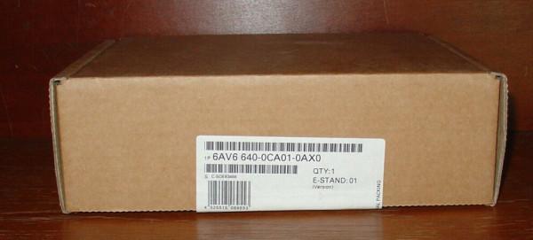 SIEMENS 6AV6640-0CA01-0AX0 Touch Panel