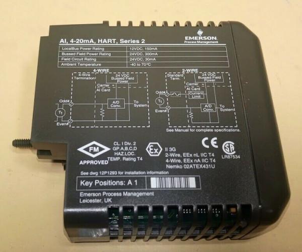 EMERSON KJ3222X1-BA1 12P2532X072 Analog Input Module