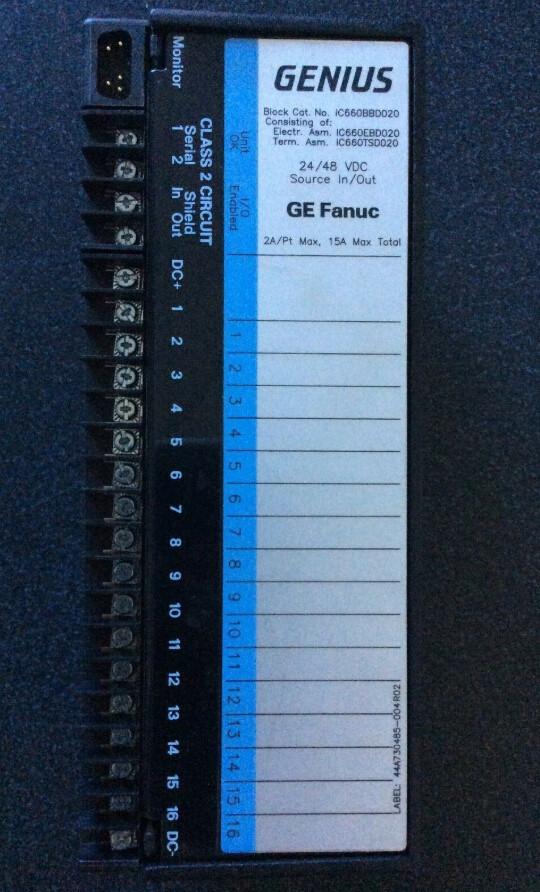 GE FANUC IC660BBD024T SRC I/O BLOCK