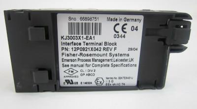Emerson KJ3003X1-EA1 12P0921X042 Interface Terminal Block