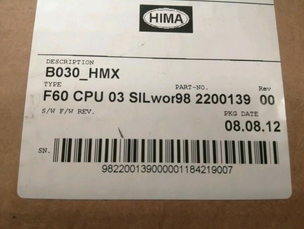 HIMA HIMatrix CPU F60 03 SILWORK