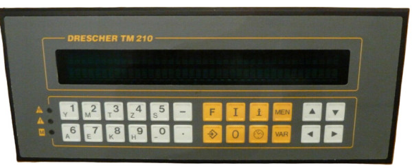 DRESCHER TM210 operating-reporting system