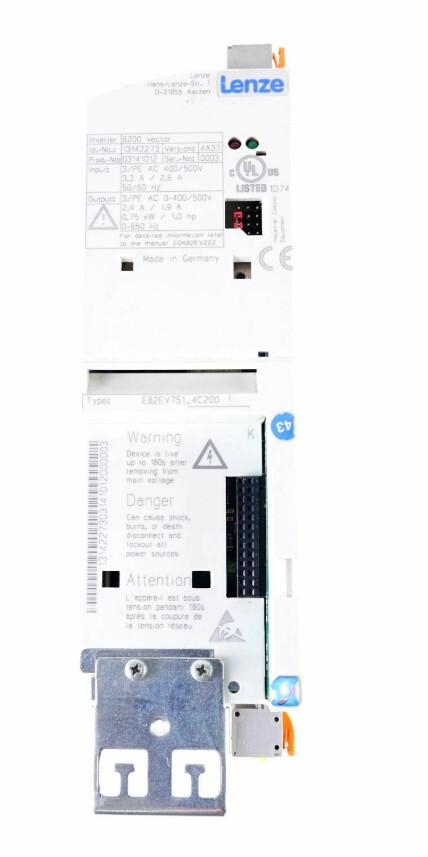 Lenze E82EV751K4C PLC Driver 3PH 0.75kW 0-400V 2.4AMP
