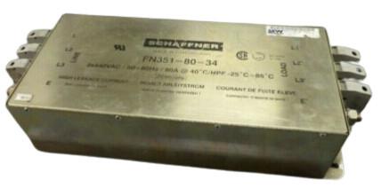 SCHAFFNER FN351-80-34 Power Line Filters 80A 440VAC