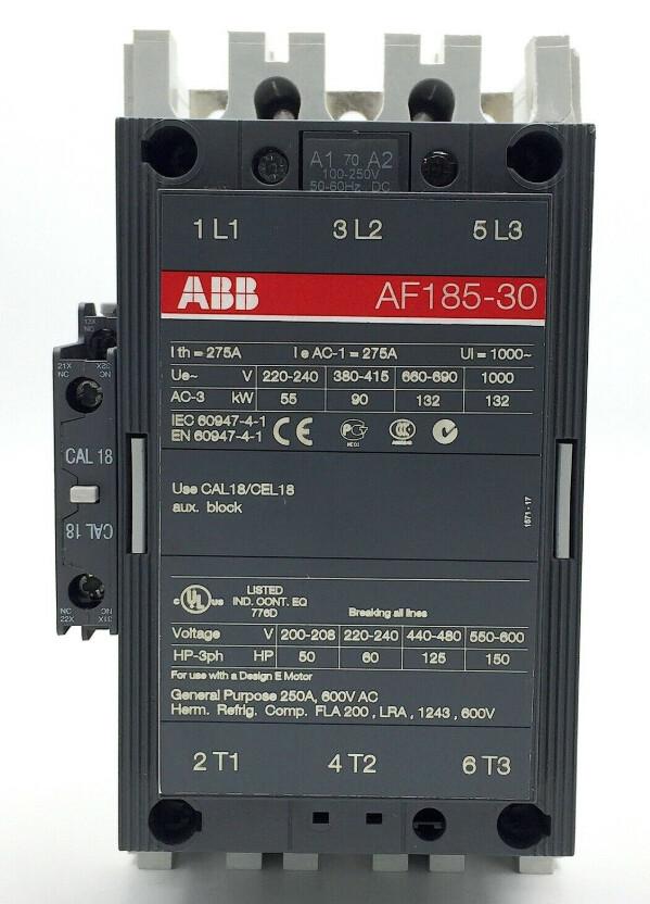 ABB Contactor AF185-30-11 Control 100-250V
