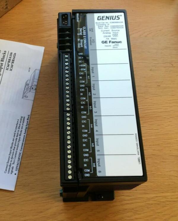 GE FANUC IC660BBA026N Analog Input Module