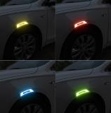 【Hot Sale! 】 Car Anti-collision Rubber Carbon Fiber Reflective Warning Sticker