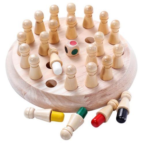 Kids Wooden Memory Match Stick Chess Game