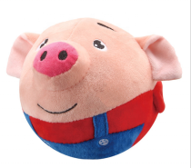 Hot Electric Plush Toys, Bread Superman Bouncing Ball, Pig Bouncing Ball With Music And Recording