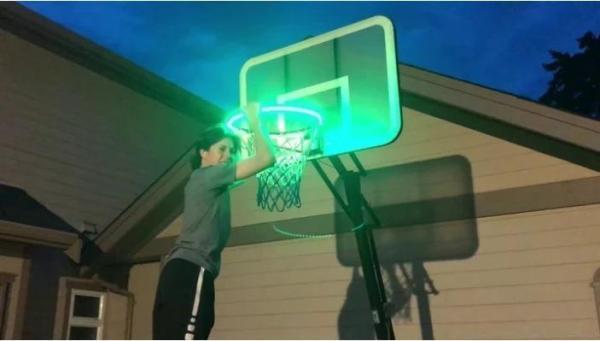 Solar LED Basket Ball Rim