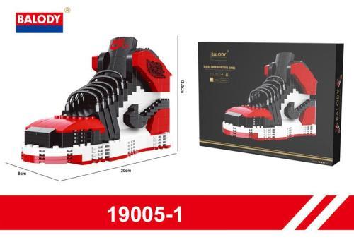 Air Jordan 1 I Retro Bred Sneakers Shoe Building Blocks Bricks