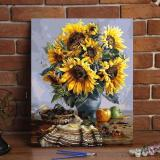 DIY Painting By Numbers -  SunFlowers (16 x20  / 40x50cm)