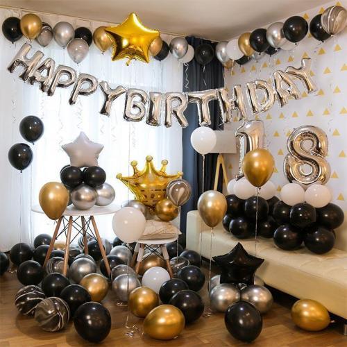 Gold luxury birthday theme party decoration