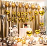 Gold luxury birthday theme party decoration