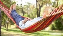Hammock outdoor single double anti-rollover thick canvas college student bedroom dormitory indoor home swing