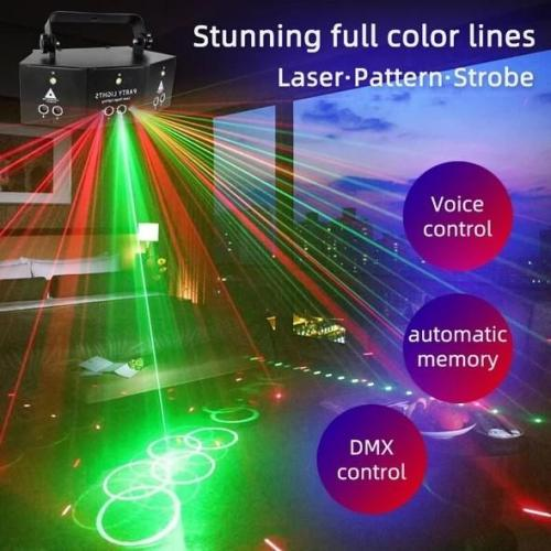 Professional New Nine Eye Laser Strobe Light