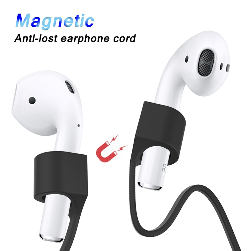 Magnetic Wireless Earphone String Rope Line For AirPods Pro Anti-lost Rope Silicone Lanyard For AirPods 1 2 Cable Stand Holder