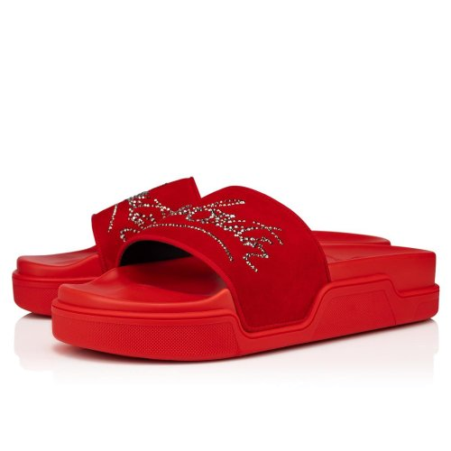 Red Bottoms Slides