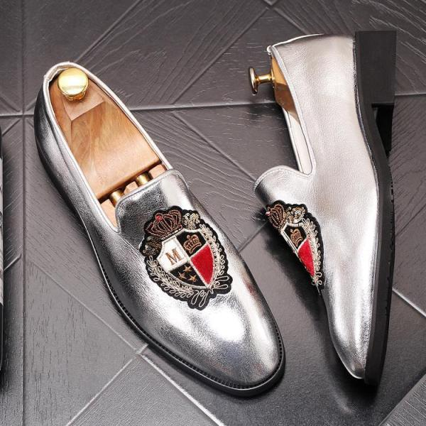 Leather Trendy Loafers-023