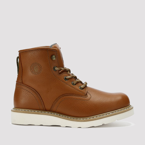 Roberta,6 Inch Wedge Work Boot for Men in Tan with Vibram® Outsole
