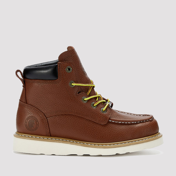 Walker,6 Inch Wedge Work Boot for Men in CLARET with Vibram® Outsole