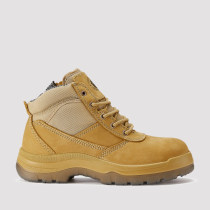 Cortez,5 Inch Work Boot for Men in Wheat with Side Zipper