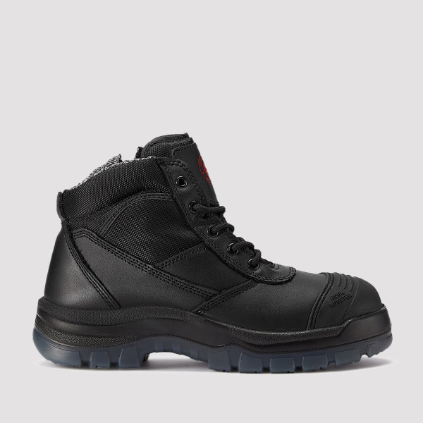 Crisson,5 Inch Work Boot for Men in Black with Side Zipper