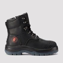 Kensington,7 Inch Work Boot for Men in Black with Side Zipper