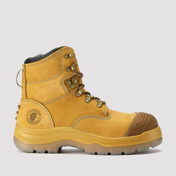 Kimberly,7 Inch Work Boot for Men in Wheat with Side Zipper