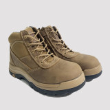 Cortez,5 Inch Work Boot for Men in Tan with Side Zipper