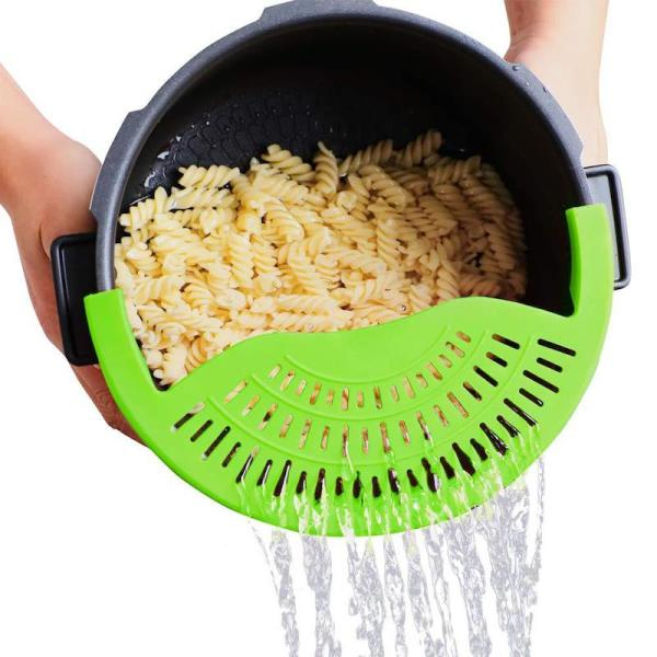 Copy Clip on Adjustable Strainer, Clip On Silicone Colander, Fits All Pots and Bowls