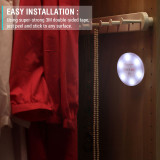 Extra Large Size 6 Super Warm Dimmable Touch Battery Operated Stick-on Led Tap Lamp Night Light Perfect for Closets,Cabinet,Basement,Kitchen,Storage,Bedroom,